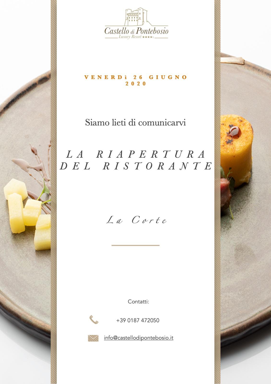 """Ristorante """"La Corte"""" il nuovo menù dello Chef Antonio Morelli"""